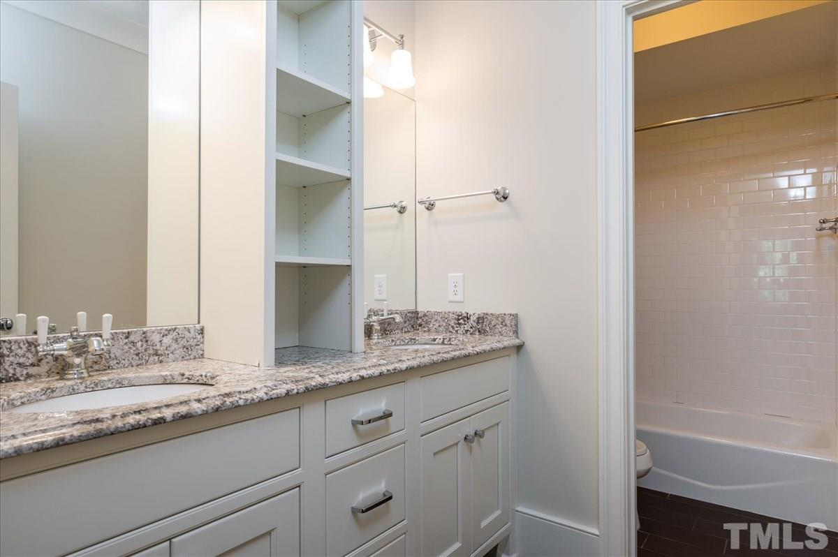 This hall bath serves the other two bedrooms and the Bonus Room