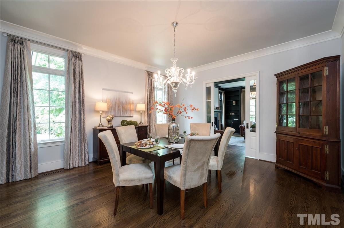 ...adjoins Study, Family Room, and Kitchen through pocket French Doors