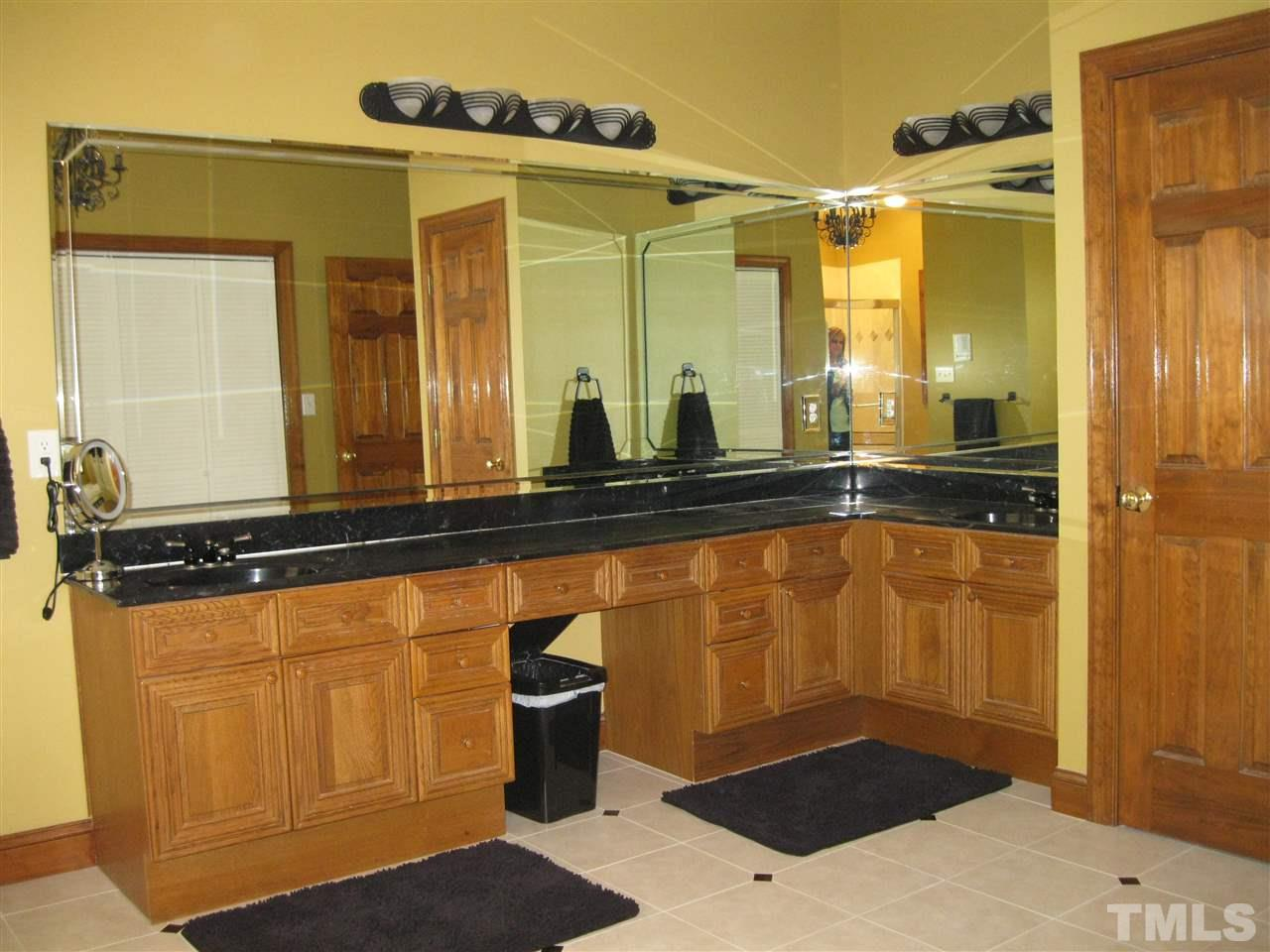 Double sinks, whirlpool tub & separate shower.