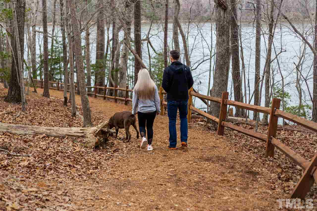 Walking Trails at Bass Lake Park. Hemlock Preserve has its own entrance to the parking trails.