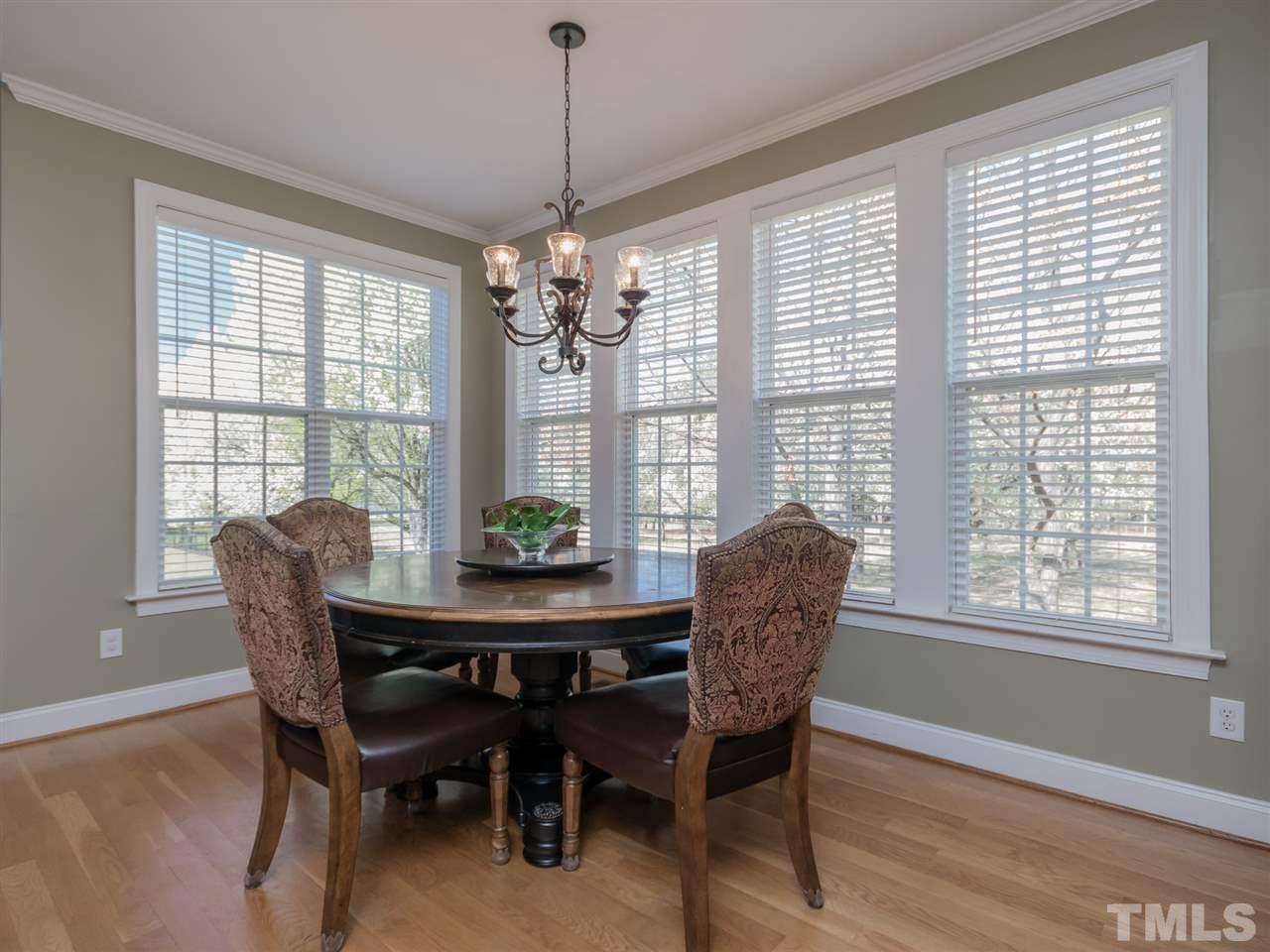 """Casual dining at it's best.  Notice the 4"""" hardwood floors which are located on the entire 1st floor."""