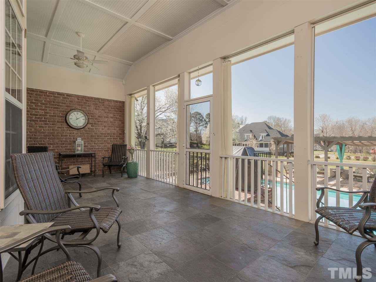 Relax and enjoy your 25' screened porch highlighted with beadboard ceiling and slate flooring.