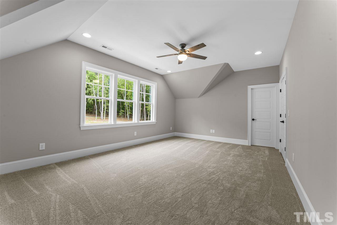 The bedrooms on the second floor are very large.  This one has a walk in closet and private bathroom.