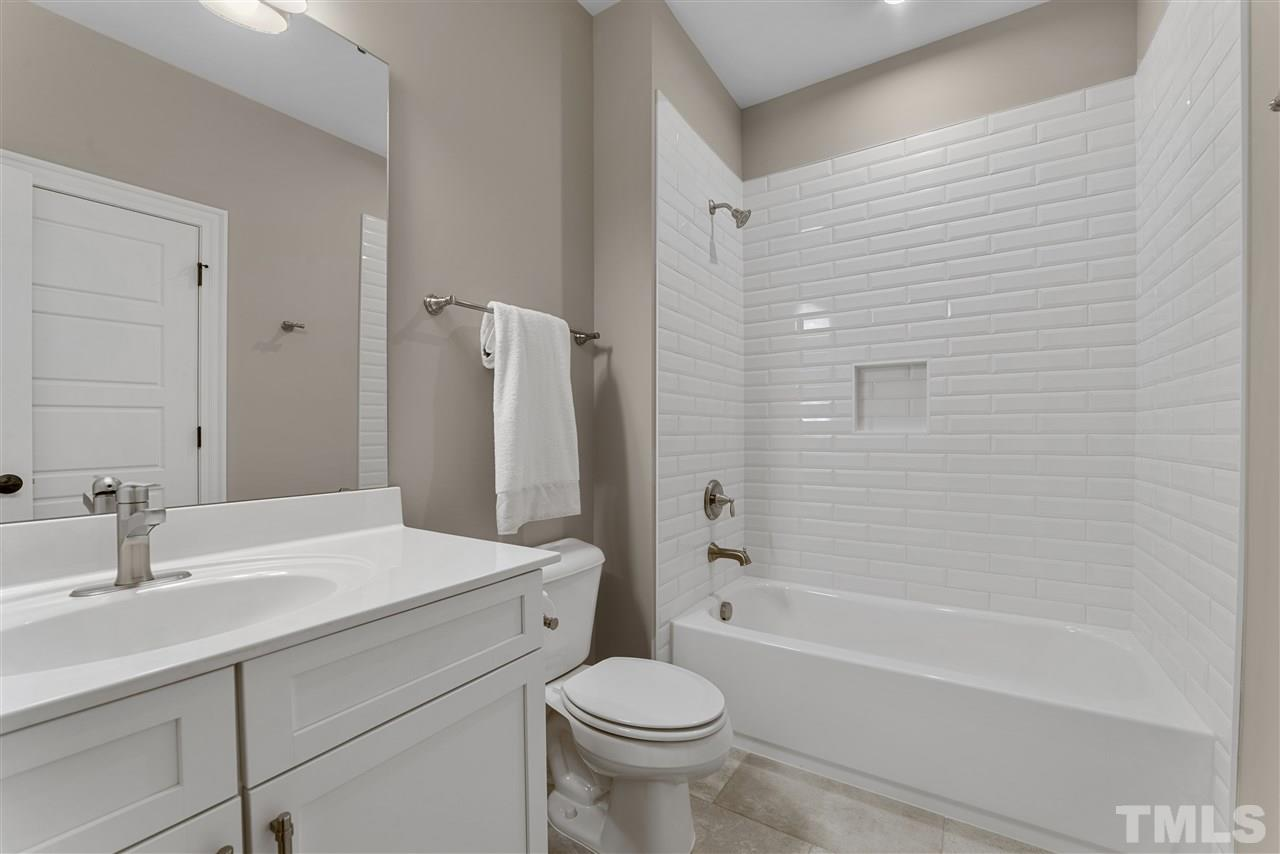 The gorgeous tile work is in all of the bathrooms.