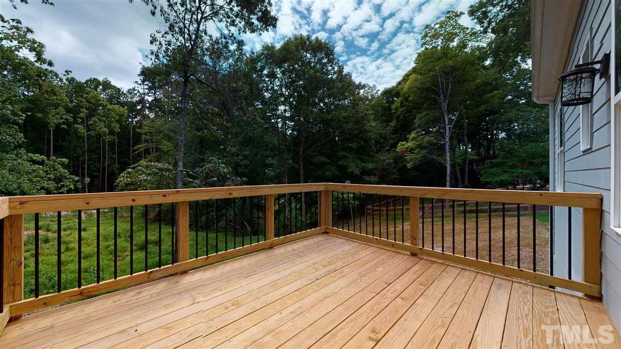 The deck overlooking the backyard.