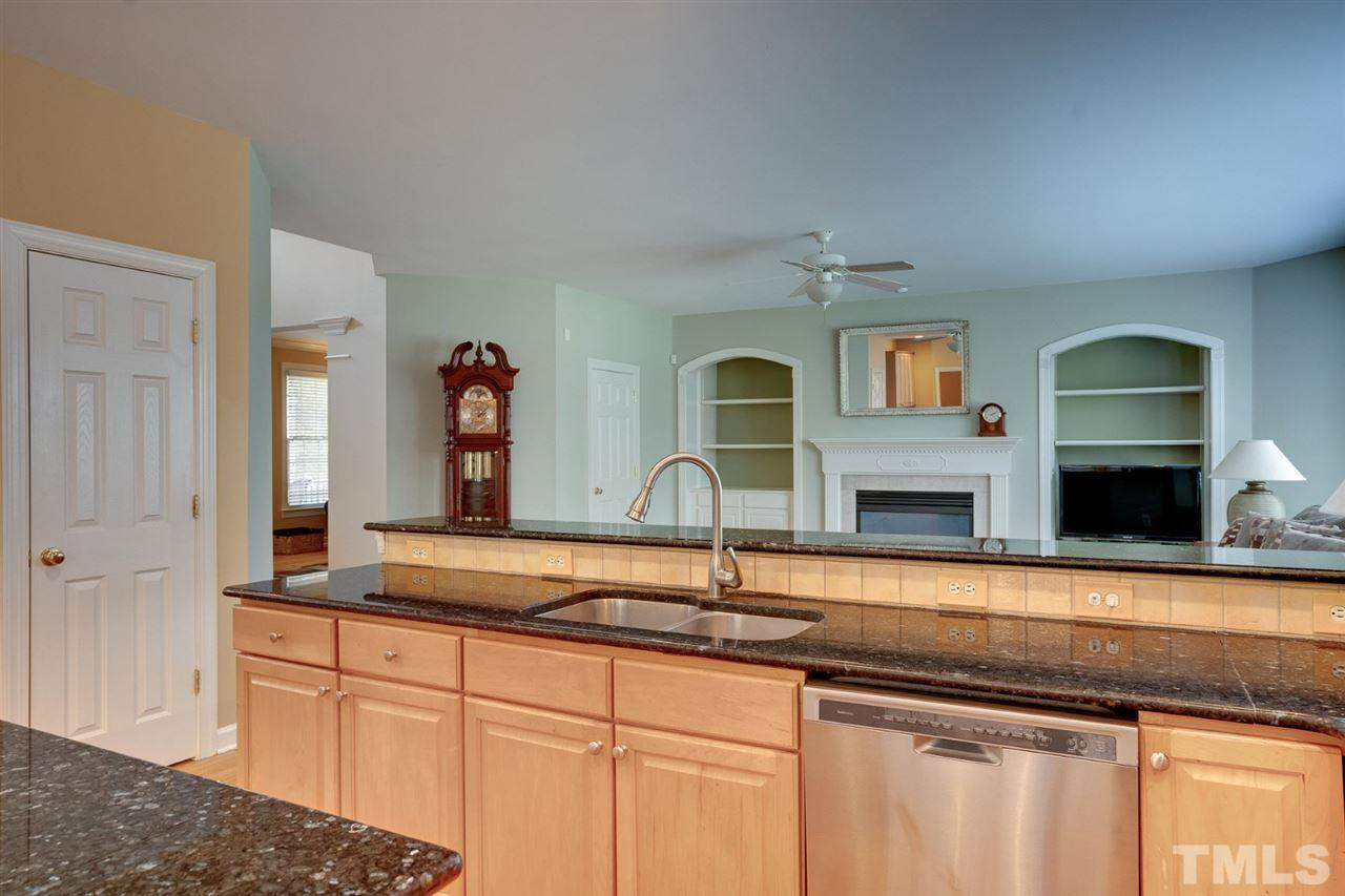 The kitchen and family room are open to one another creating a fantastic living space!