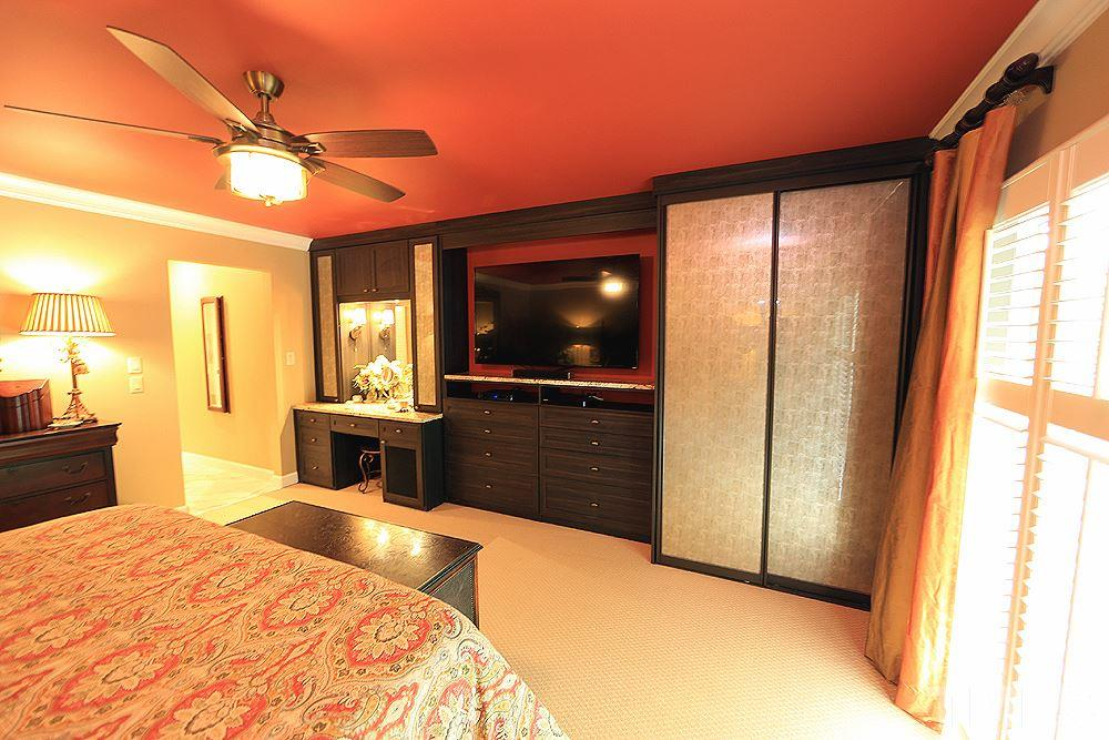 Master has been updated with several Caligornia closet built-ins to include a dressing area and jewelry closet