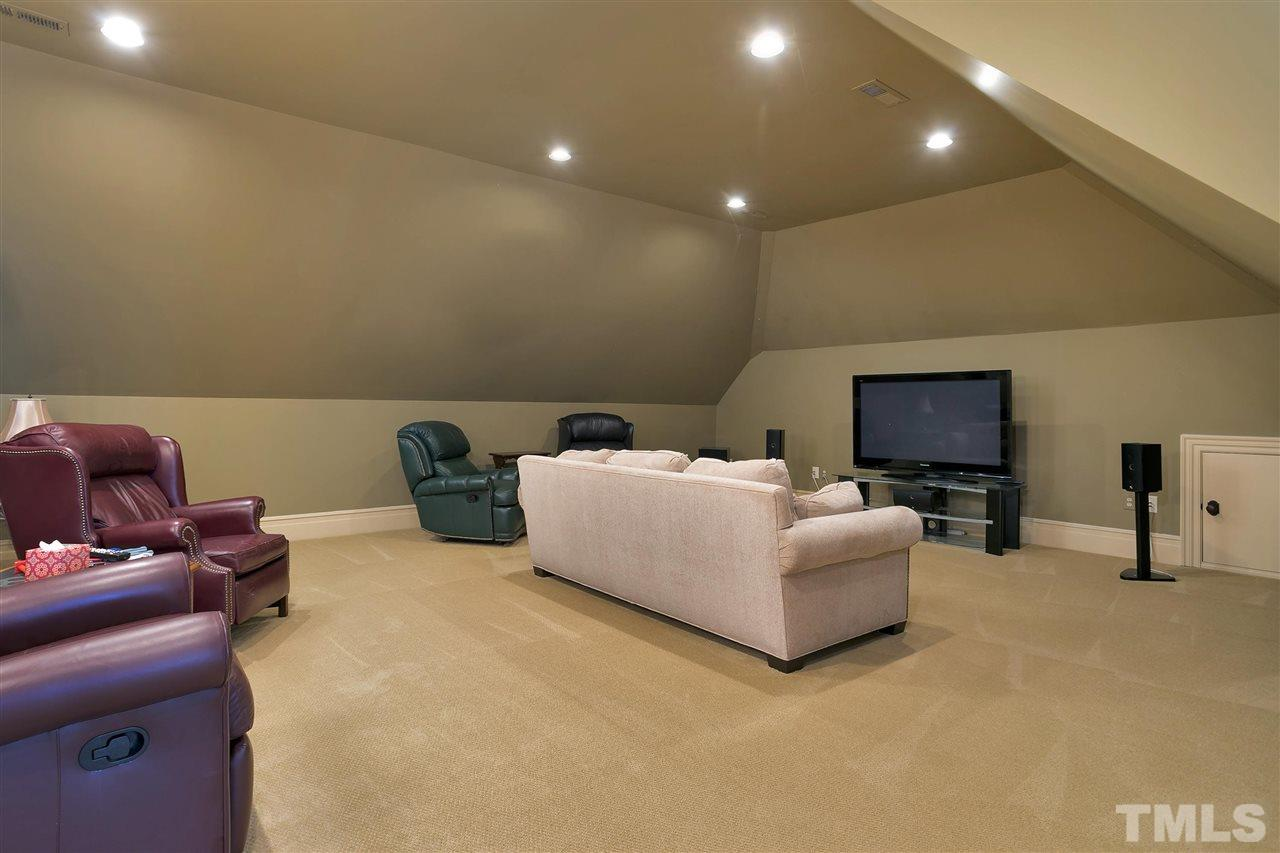 This media room is the last of the party central space. Your guests will have so much to do they won't want to leave. Let's hope that is a good thing!