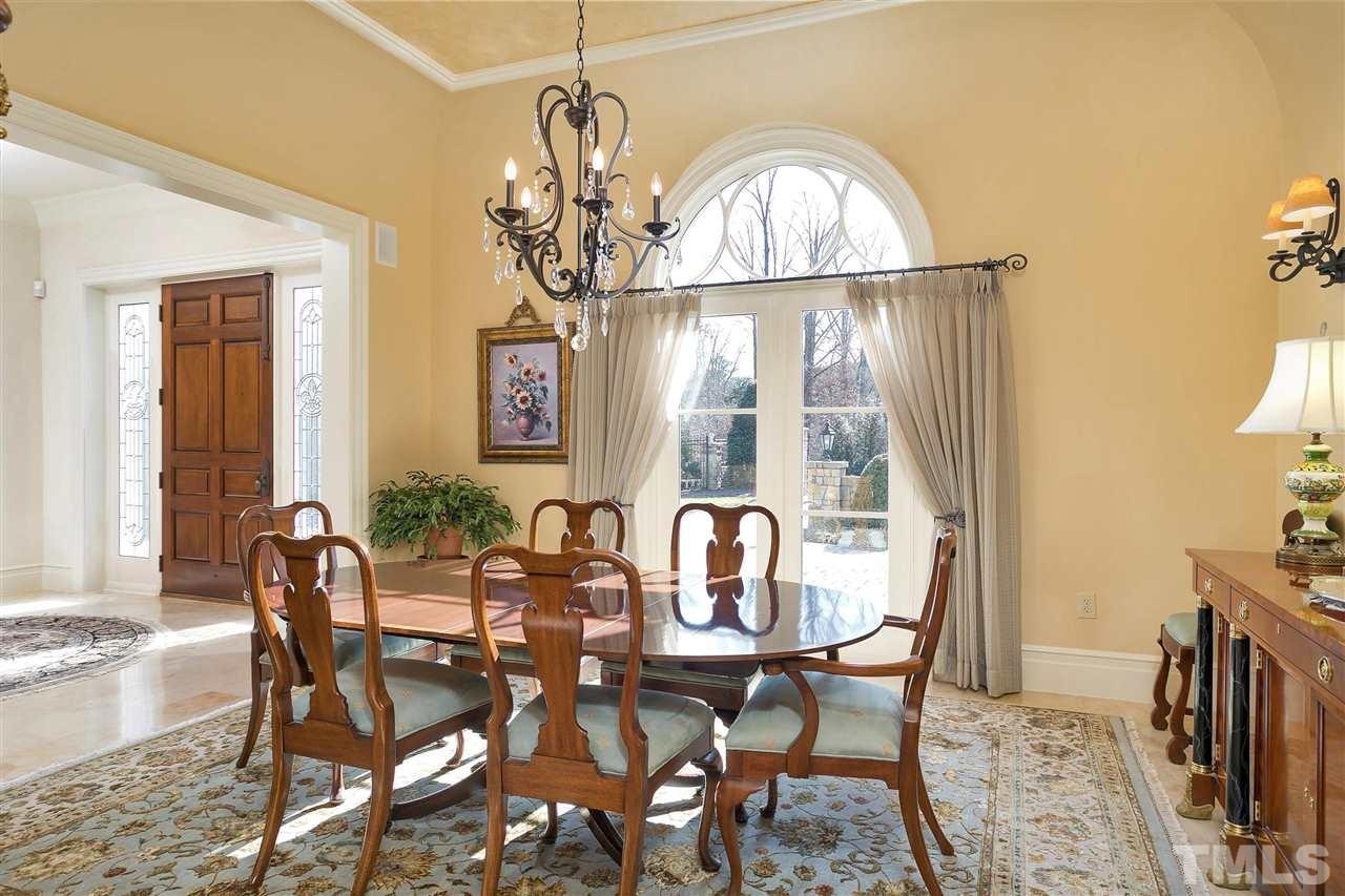 Family gatherings will be memorable in this spacious and elegant dining room. A beautiful French door like double window with palladium upper lets in lots of natural light.