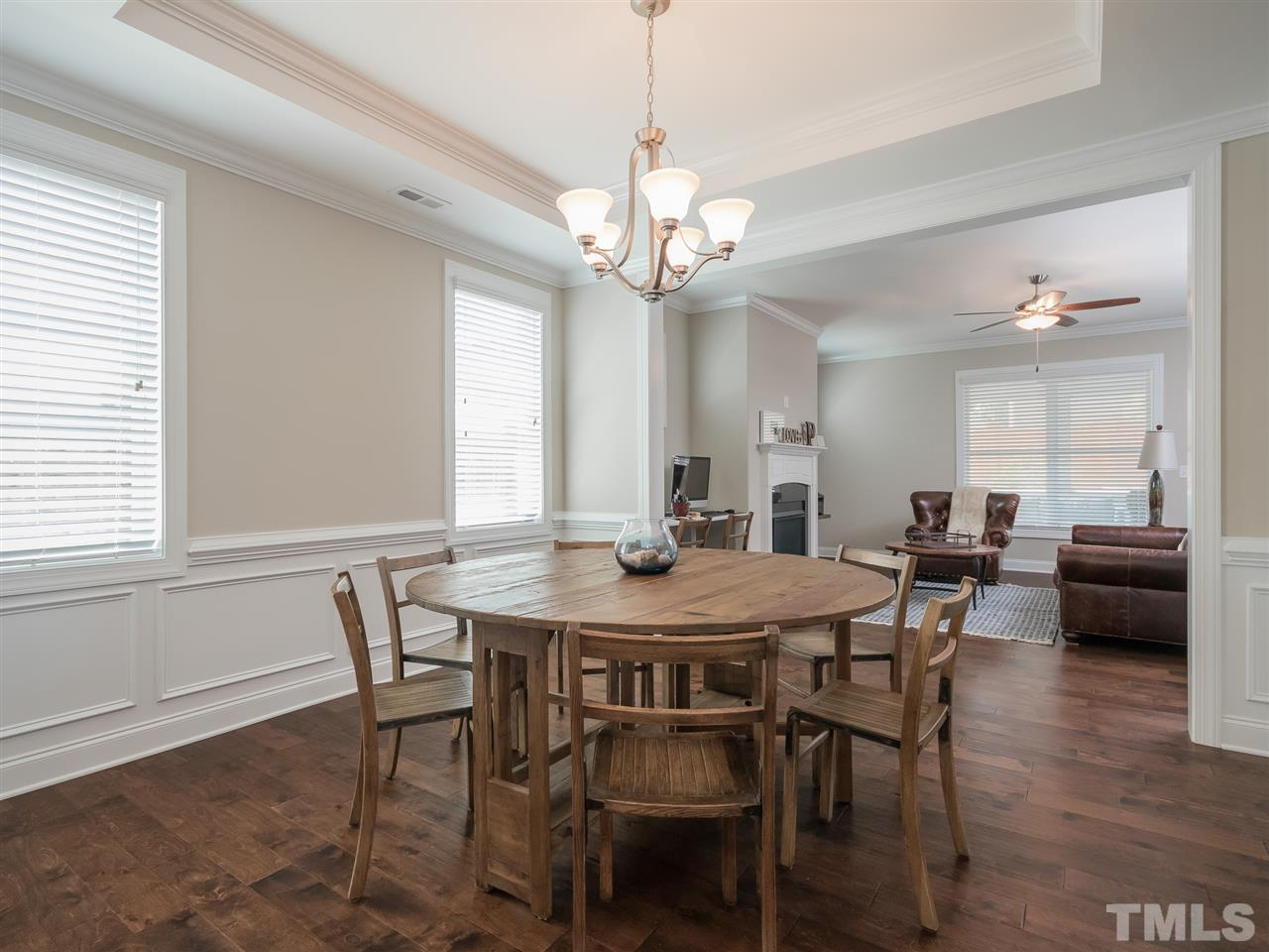Dining room is open to the kitchen and the family room.