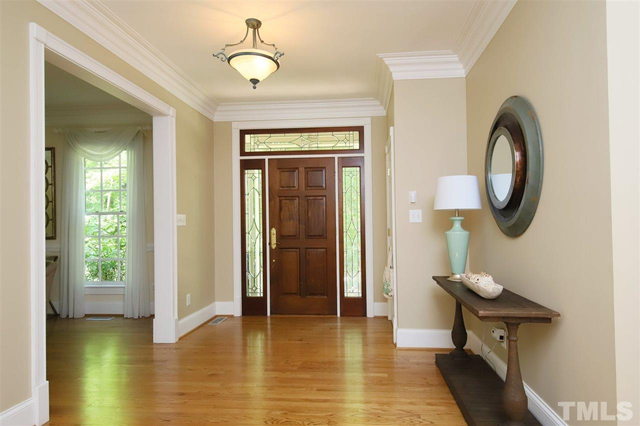 Bright Foyer opens to main level