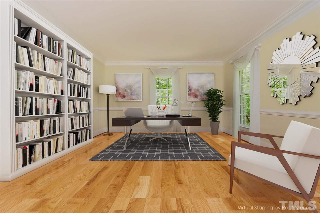 Living Room, virtually staged as large office!