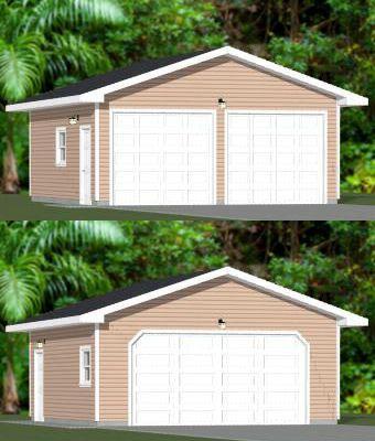 22x24 2 Car Garage 528 Sq Ft Pdf Floor Plan Atlanta