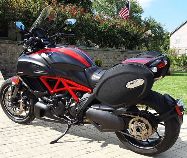 2015 Ducati Diavel Carbon Red Los Angeles California Motorcycles