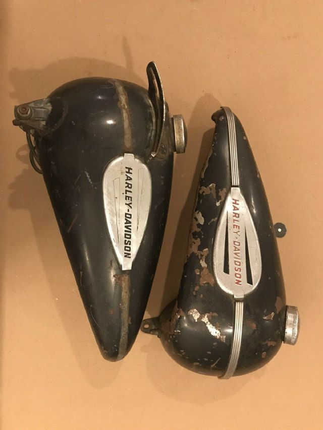 1936-1946 Harley Davidson Knucklehead Gas Tanks LOS ANGELES