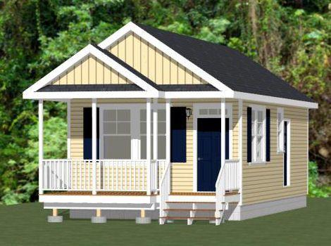 16x32 1 Bedroom Tiny House 511 sq ft PDF Plan LOUISVILLE – 16 X 32 Garage Plans
