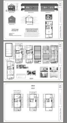 16x32 1 Bedroom Tiny House 511 Sq Ft Pdf Plan
