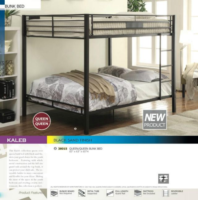 fdcce47e660e KALEB BLACK SAND QUEEN OVER QUEEN BUNK BED 38015 MANHATTAN NEW YORK  Furniture For Sale Classified Ads - FreeClassifieds.com