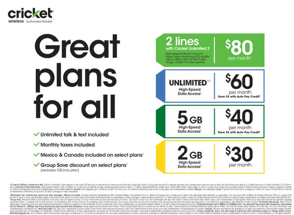 Cricket Wireless Plans | Friends & Family Cell Phone Plans