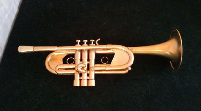 Gold Plated Monette Anja II Professional C Trumpet