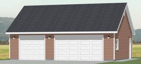 20x28 2Car Garage 560 sq ft PDF Floorplan VALDOSTA GEORGIA – 28X32 Garage Plans