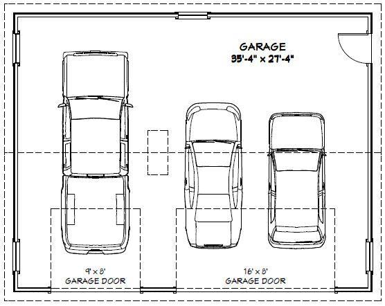 36x28 3 Car Garage 1 008 Sq Ft Pdf Floor Plan