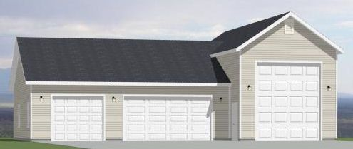 54x40 1RV 3Car Garage PDF Floor Plan GREENVILLE SOUTH CAROLINA – Garage Plans With Rv Storage