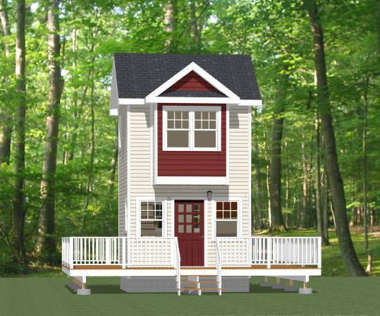 12x12 Tiny House 282 sqft PDF Floor Plan ROGERS ARKANSAS