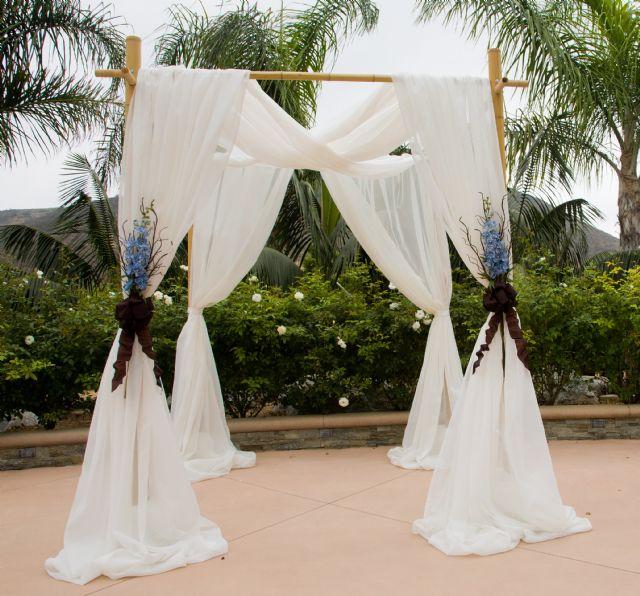 Bamboo Wedding Arch: Elegant Bamboo Wedding Arch VENTURA COUNTY CALIFORNIA
