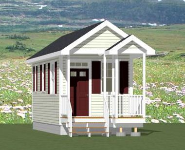 Swell 14X28 1 Bedroom Tiny House Pdf Floor Plan Atlanta Georgia Largest Home Design Picture Inspirations Pitcheantrous