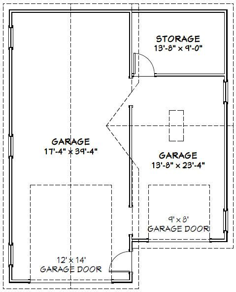 32x40 1RV 1Car Garage PDF Floor Plan COLUMBUS GEORGIA General – 32X40 Garage Plans