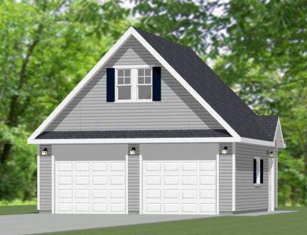 24x36 2Car Garage 864 sq ft PDF Floor Plan TULSA OKLAHOMA – 28X28 Garage Plans