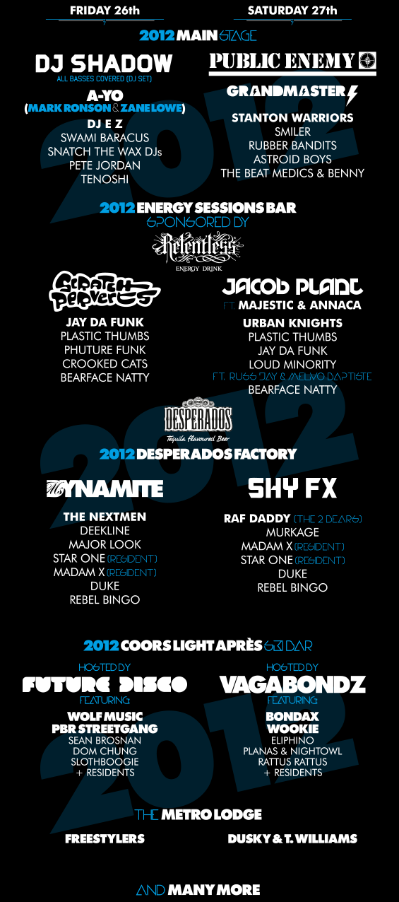 Freeze Line up 2012