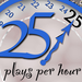 25 Plays Per Hour Thumbnail Photo