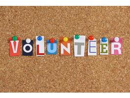 Volunteer corkboard