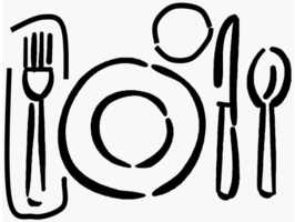 Dinned clipart table setting 6