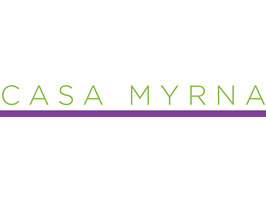 Casa myrna logo with purple line