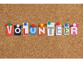 Volunteer corkboard
