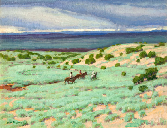 E. Martin Hennings - Along the Rio Grande