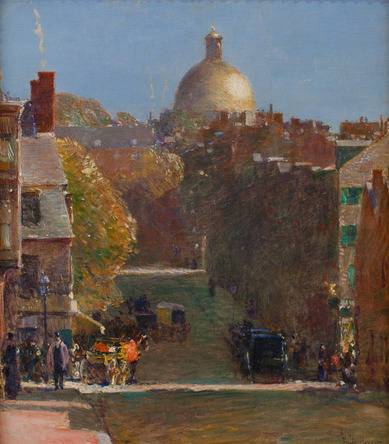 Childe Hassam - Mount Vernon Street, Boston, Looking Toward the State House