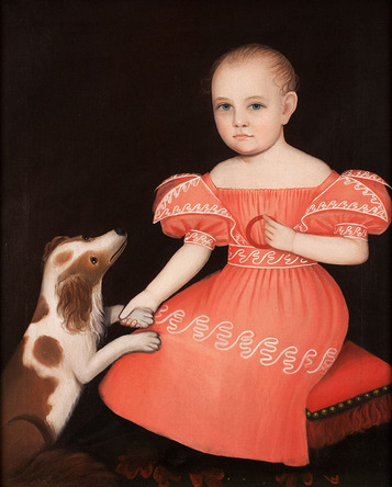 Ammi Phillips - Child in Pink with a Spaniel