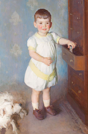 Marie Danforth Page - Little Boy with his Dog