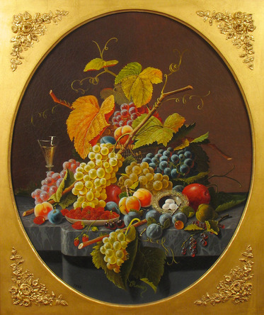 School of Severin Roesen - Still Life with a Bird's Nest