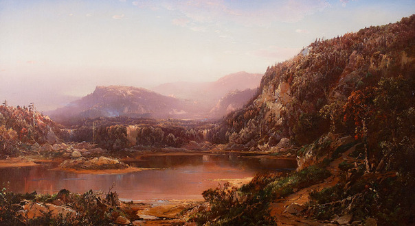 William Louis Sonntag - October in New Hampshire, Near the Foot of Mt. Washington