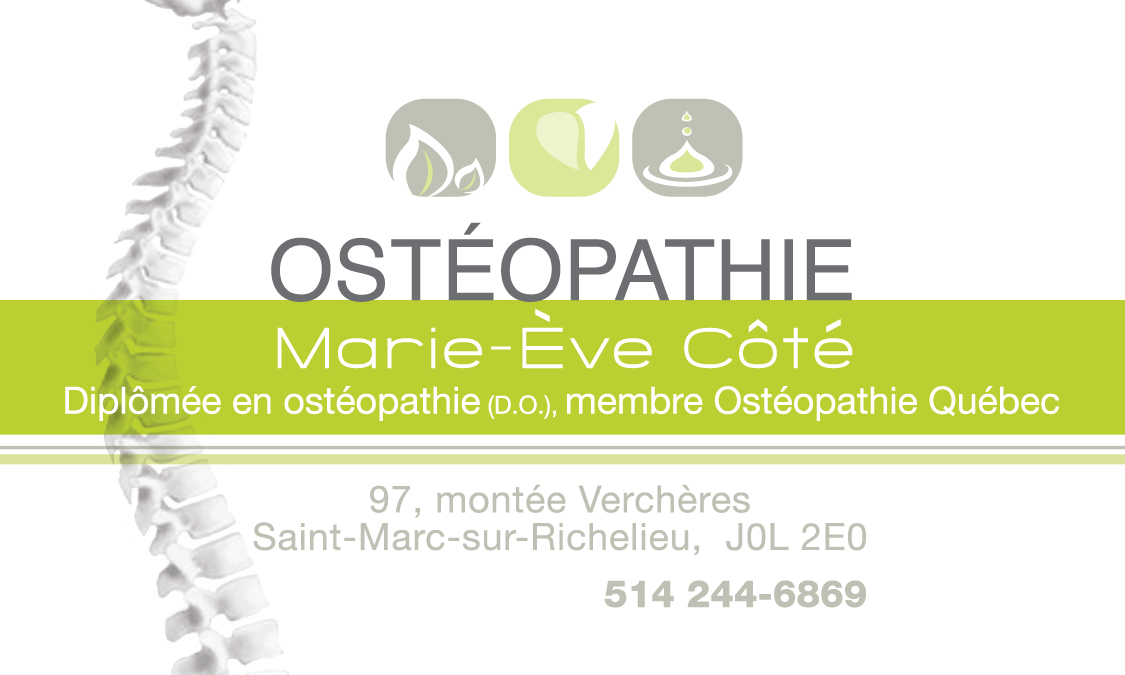 Ostéopathie Marie-Ève Côté