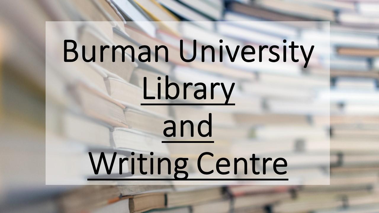 Burman University Writing Centre