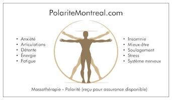 Polarité Montréal - Jean-François Pépin, Massothérapeute