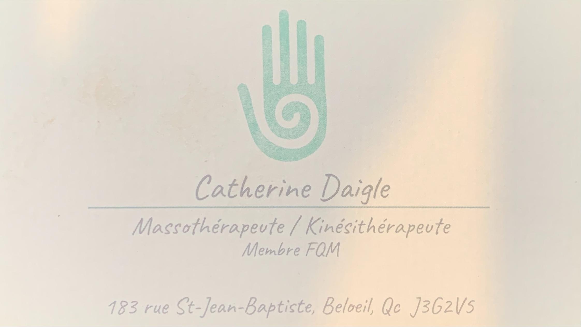 Catherine Daigle   Masso-Kinésithérapie