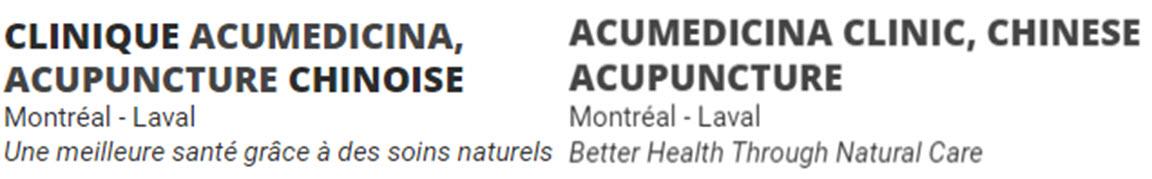 Clinique AcuMedicina Inc.