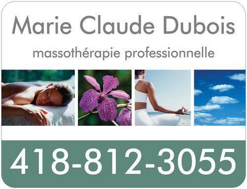 Marie Claude Dubois, massothérapie professionnelle